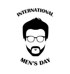 International mens day with face man vector