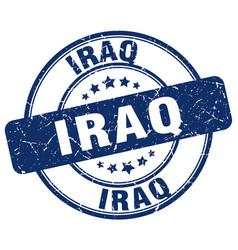 Iraq blue grunge round vintage rubber stamp vector