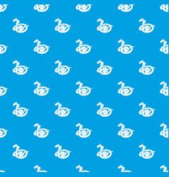 king cobra pattern seamless blue vector image