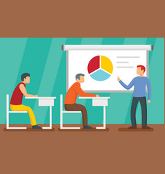 Lecture concept background flat style vector