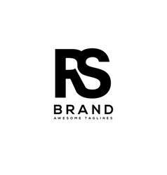 letter rs strong bold sport logo vector image