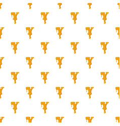 Letter y from honey pattern vector