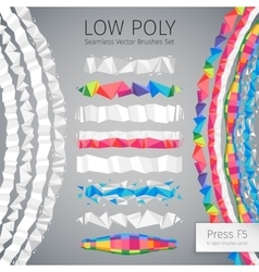 Low Poly Seamless Brushes vector image