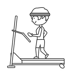 man on a treadmill vector image