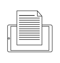 mobile phone document file paper digital line vector image