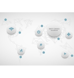 modenr social network infographic vector image