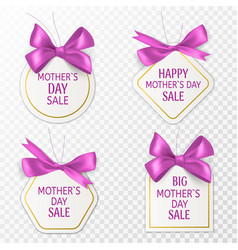 Mother day tags cute sale labels vector