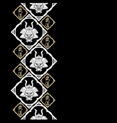 new pattern 2019 samurai 0014 vector image