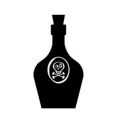 Old retro bottle icon vector