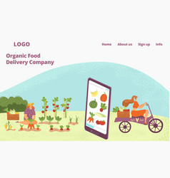 organic fresh food delivery from farm healthy vector image