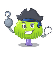 Pirate isolated weeping willow on the mascot vector