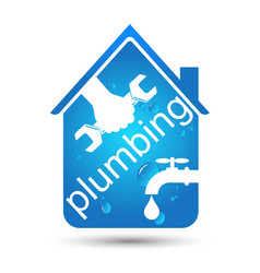 Plumbing home repair design vector