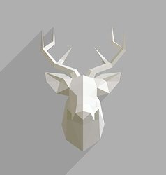 Polygonal head of deer vector