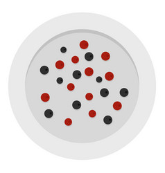 Red and black peppercorns icon isolated vector