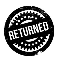 Returned rubber stamp vector