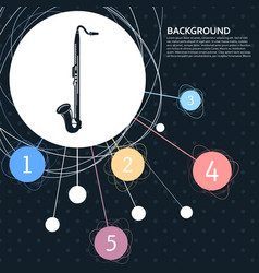 saxophone icon with the background to the point vector image