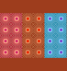 seamless pattern with bright squares and lines vector image