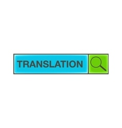 Search translation icon cartoon style vector