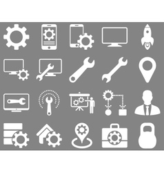 Settings and Tools Icons vector image