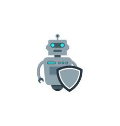 shield robot logo icon design vector image