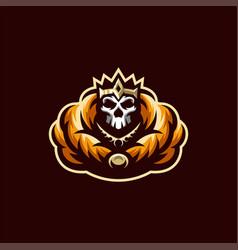 skeleton skull logo design template vector image
