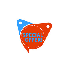 special offer tag template isolated vector image