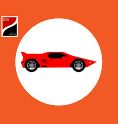 Sports car in red color vector