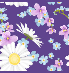 spring summer flowers seamless pattern texture vector image