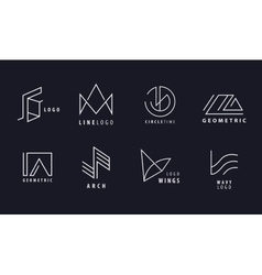 st of Line Geometric Hipster Symbols for vector image