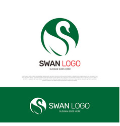 swan bird logo icon design vector image