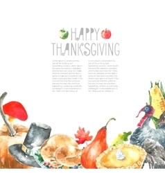Thanksgiving Day set vector image