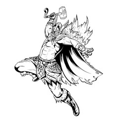Thor lineart vector