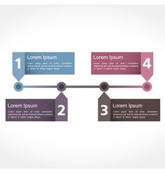 Timeline Design vector image