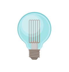 Transparent light bulb in shape of globe vector
