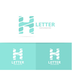 unique letter h logo design template vector image