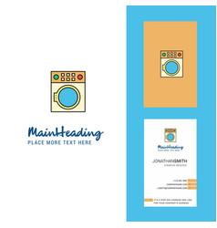 washing machine creative logo and business card vector image