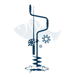 Winter rod and drill vector
