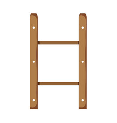 wooden shelf isolated icon vector image