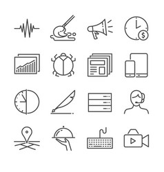 freelance jobs line icon set 2 vector image vector image