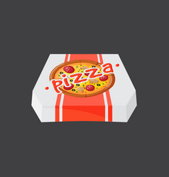 hot fresh pizza box icon vector image