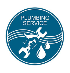 plumbing service symbol vector image