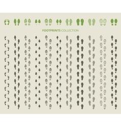 Shoes imprints vector image