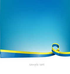 ukraine flag on sky background vector image vector image