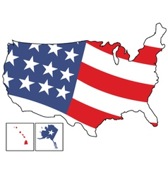 American map vector image vector image
