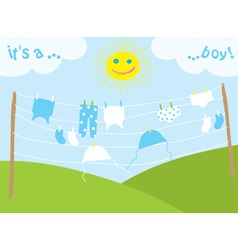 babys clothes drying under the sun vector vector image
