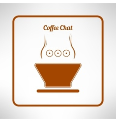 Brown coffee cup made in modern flat design Cafe vector image vector image