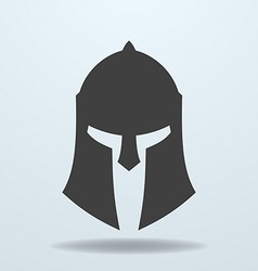 Icon of ancient Greek Roman Spartan helmet vector image