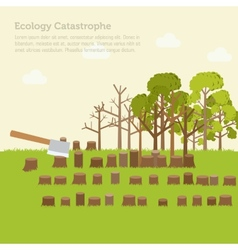 Issue deforestation design background vector