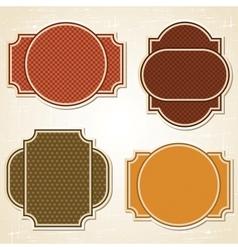 Retro Labels Stickers Set vector image vector image