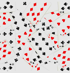 seamless pattern with playing cards in chaos card vector image